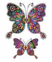 Carnavalskleding stickers kleuren tattoo vlinder xxl helmond