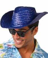 Carnavalskleding strohoed blauw toppers volwassenen helmond