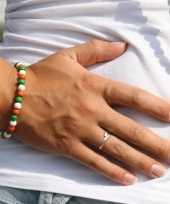 Carnavalskleding supporters armband oranje groen wit helmond