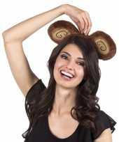 Carnavalskleding tiara bruine apenoren volwassenen helmond