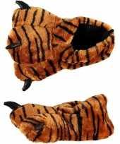 Carnavalskleding tijgerpoot sloffen dames helmond