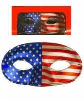 Carnavalskleding usa oogmasker elastiekje helmond