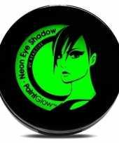 Carnavalskleding uv make up groene oogschaduw helmond