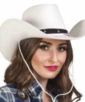 Carnavalskleding verkleed dames cowboyhoeden wichita wit vilt helmond