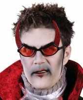 Carnavalskleding verkleed demonen bril volwassenen helmond