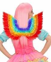 Carnavalskleding verkleed vleugels regenboog kleuren helmond 10087615