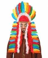 Carnavalskleding verkleedaccessoires indianentooi heren helmond 10132649