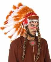 Carnavalskleding verkleedaccessoires indianentooi heren helmond 10132654