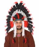 Carnavalskleding verkleedaccessoires indianentooi heren helmond