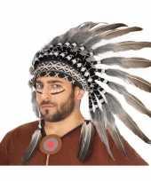 Carnavalskleding verkleedaccessoires indianentooi volwassenen helmond