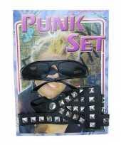 Carnavalskleding verkleedsetje een punker helmond