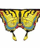 Carnavalskleding vlinder vleugeltjes gele zwaluwstaart kinderen helmond