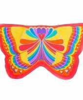 Carnavalskleding vlinder vleugeltjes regenboog kinderen helmond 10089600