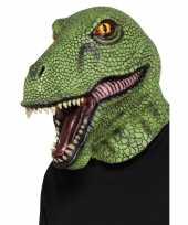 Carnavalskleding volledige hoofdbedekkend dinosaurus masker volwassenen helmond