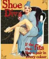 Carnavalskleding wandplaatje dames schoenen diva helmond