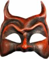 Carnavalskleding wandversiering duivel masker helmond
