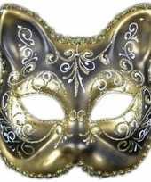 Carnavalskleding wandversiering kat classique masker helmond