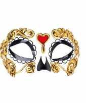 Carnavalskleding wandversiering oogmasker day of the dead helmond