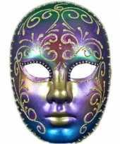 Carnavalskleding wandversiering regenboog masker helmond