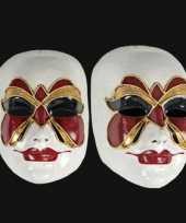 Carnavalskleding wandversiering vlinder masker helmond