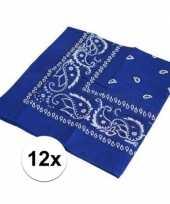Carnavalskleding x blauwe bandana zakdoek helmond 10126073
