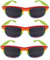 Carnavalskleding x carnavalaccessoires bril regenboogkleuren helmond 10157866