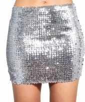 Carnavalskleding zilveren glitter pailletten disco rokje dames helmond