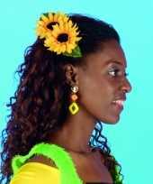 Carnavalskleding zonnebloemen speld helmond