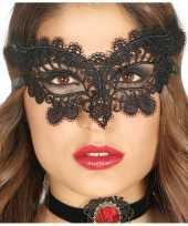 Carnavalskleding zwart oogmasker dames helmond