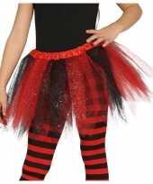 Carnavalskleding zwart rode verkleed petticoat meisjes helmond