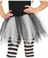 Carnavalskleding zwart witte verkleed petticoat meisjes helmond