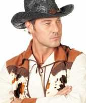 Carnavalskleding zwarte cowboy hoed heren helmond 10042567