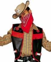 Carnavalskleding zwarte cowboy vest kids helmond
