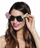 Carnavalskleding zwarte hawaii zonnebril helmond