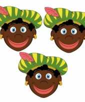 Carnavalskleding zwarte pieten feestmaskers kinderen stuks helmond 10096305