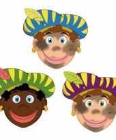 Carnavalskleding zwarte pieten feestmaskers kinderen stuks helmond