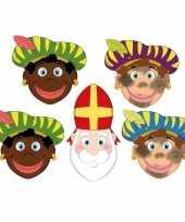 Carnavalskleding zwarte pieten sinterklaas feestmaskers kinderen stuks helmond 10096302