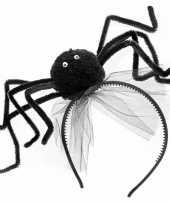 Carnavalskleding zwarte spin haarband helmond