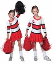 Cheerleader carnavalskleding meisjes helmond