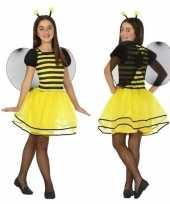 Dierencarnavalskleding bij bijen verkleed jurk jurkje meisjes helmond