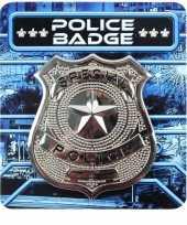 Sheriff broche zilver carnavalskleding accessoire helmond